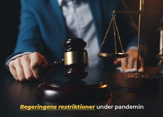 Allt om Regeringens restriktioner på online casino under pandemin